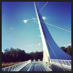 Mark & Dax on the Sundial Bridge