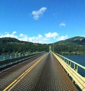Narrow bridge over the Columbia River, between Hood River, OR and White Salmon, WA
