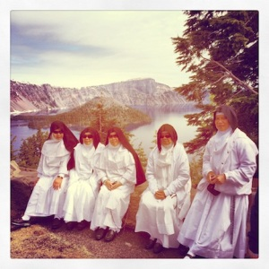 Look who I found at Crater Lake. Don't know who they were, just that they were from Orange County, CA.