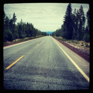 Leaving Crater Lake. On to the next adventure.