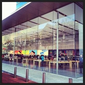 Apple store, in downtown Portland