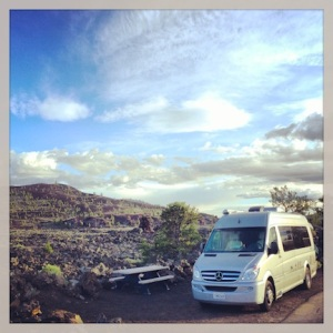 Our campsite @ Craters of the Moon