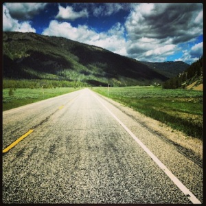 The road from Yellowstone to Bozeman