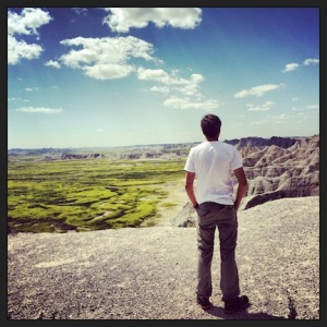 Mark, taking in the Badlands