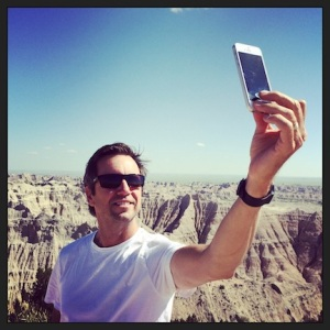 Mark, takin' a selfie @ Badlands