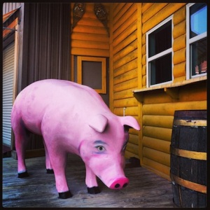 Big Pig. Downtown Omaha, NE