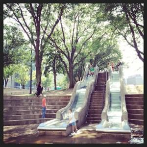 Slides. Downtown Omaha, NE