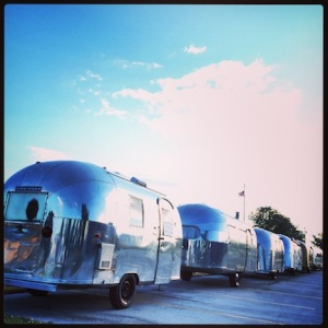 Lots of old Airstreams