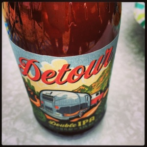 Great beer with Airstream trailer on the label.