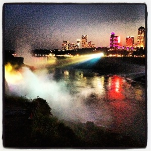 Niagara Falls, all lit up!