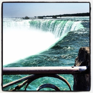 Niagara Falls, from the Canadian side. So much water!