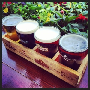 Beautiful flight of beer
