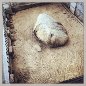 The actual rock. Plymouth Rock.