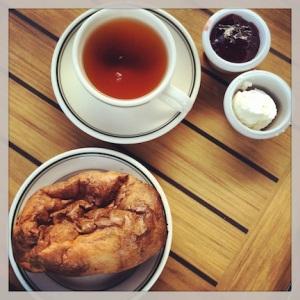 Popovers, jam, and tea
