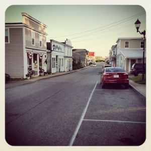 The main street in Lubec