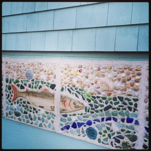 Fish mural in downtown Lubec