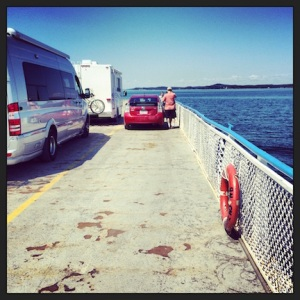 Once on the ferry, we enjoy a peaceful ride over to Deer Island