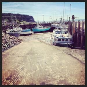 Low tide in Alma