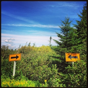 Leaving Cape Enrage. Which way are we supposed to go?!