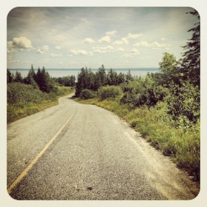 Scenic route out of Cape Enrage
