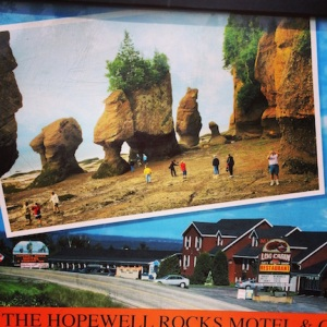 Poster of Hopewell Rocks at low tide.