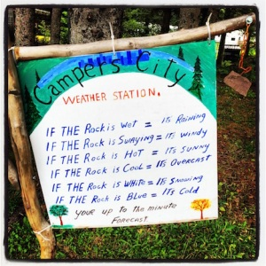 Clever (and snarky) sign at the campground in Moncton