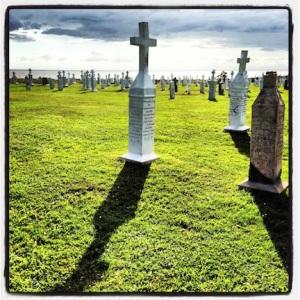 Cool graveyard @ Parish Church of Mont-Carmel