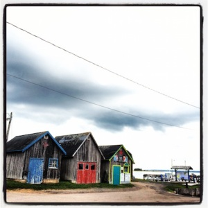 Local maritime architecture near Georgetown....sea shacks.