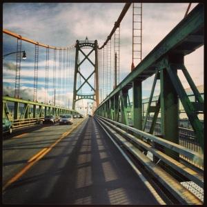 Crossing the bridge to Halifax.