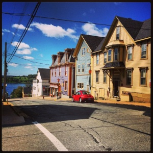Quaint, colorful houses in downtown Lunenburg