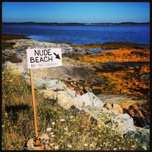 And here it is...the nude beach?!! Canadians are funny!