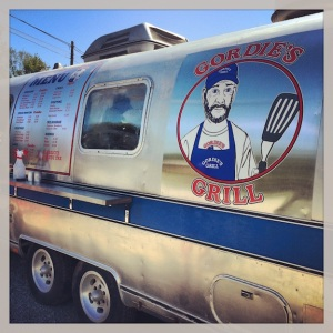 Fish and Chips from a cool old Airstream.