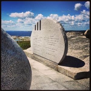 The crash site memorial