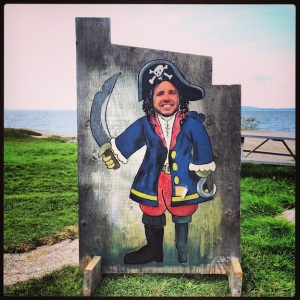 Mark, as a pirate, @ Peggy's Cove