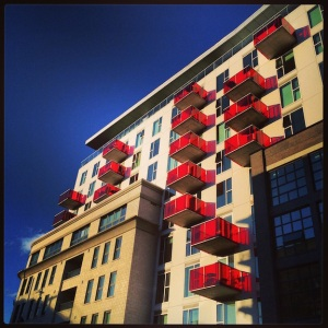 Modern condo building in Halifax