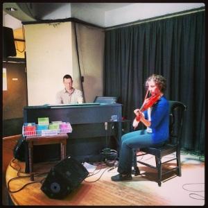 A typical Cape Breton combo...fiddle & piano.