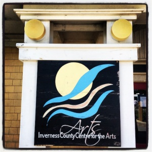 Inverness County Center for the Arts. Our first art stop.