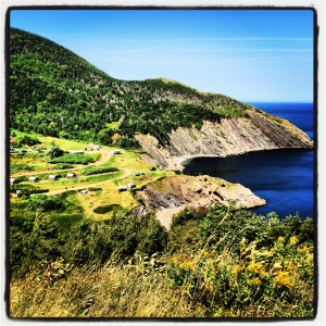 The first view of Meat Cove