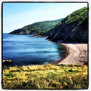 The beach @ Meat Cove