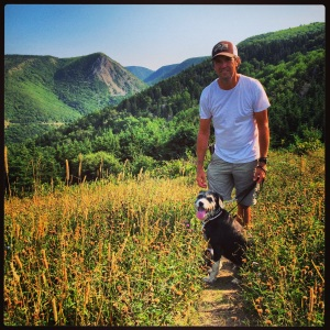 Mark and Dax on the hiking trail