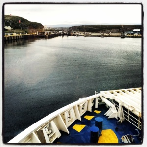 Arriving in Port aux Basque, Newfoundland