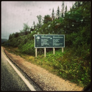 Entering Gros Morne National Park in the drizzling rain