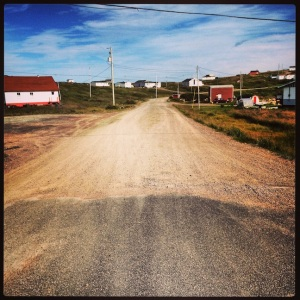 End of the paved road. Red Bay
