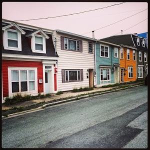 Colorful houses. Downtown St. John's