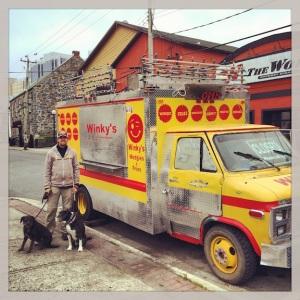Mark Wienke finds Winky's food truck. How perfect!