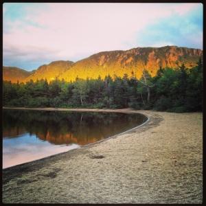 Evening walk around the pond