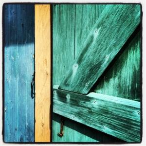 Green door detail @ the Fortress of Louisbourg