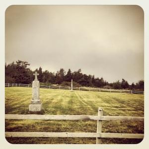 Finally, a nice little graveyard...