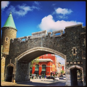 Entrance to the walled city of Old Quebec