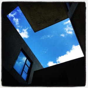 Cool view from inside one the courtyards